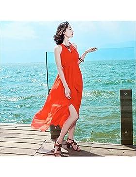 Meng Wei Shop Vestidos de primavera verano nuevos de las mujeres Vestido bohemio de las muchachas Vestidos de...