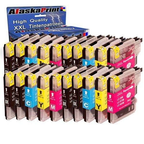 Premium Set di 20 cartucce di inchiostro compatibile con Brother LC985 LC 985 LC985 XL per Brother MFCJ265W DCPJ140W DCPJ315W DCPJ515W DCPJ125 MFCJ220 MFCJ410 DCPJ415W 20xLC985Brother