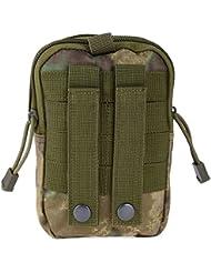 troxie (TM) 5colores resistente al aire libre impermeable táctico cintura riñonera cinturón bolsa EDC Camping senderismo deporte Fitness Bolsa Funda tipo cartera para, Army FG Wasteland