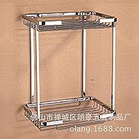 Chrome single-layer ciotole quadrate gancio di traino a triangolo rack Mensola per bagno chrome griglia (Gancio Traino Staffa)
