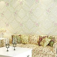 Pareti camera da letto 3D giardino fiori carta da parati in tessuto non tessuto soggiorno (Accessori Rinnovato)