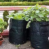 2-Pack Grow Bolsas de Tela de aireación macetas DIY Patatas plantadoras Bolsas con Solapa para Cultivar Verduras,Patata, Zanahoria y Cebolla