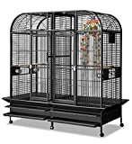 Montana Cages Papageienvoliere XXL Los Angeles - in Antik 183 x 85cm reines Papageienkäfig Maß