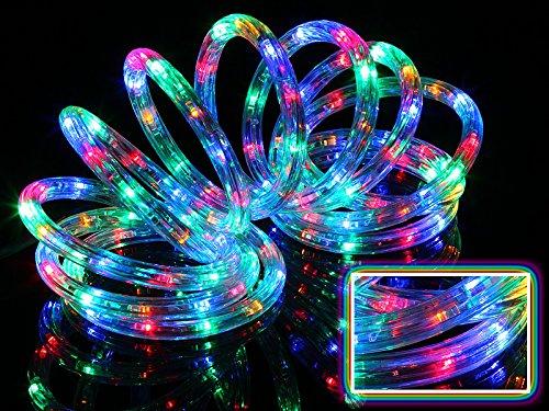 LED Lichterschlauch Lichtschlauch Beleuchtung 4m bunt multi 4 meter + Zuleitung Ge Led-weihnachtsbeleuchtung