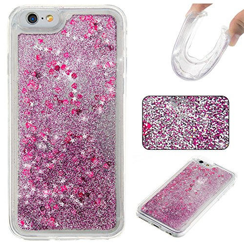 Nutbro iPhone 7 TPU Liquid Case, iPhone 7 Quicksand Case Flowing Quicksand Liquid Floating Luxury Bling Glitter Sparkle Diamond Soft Cover for iPhone 7 YB-iPhone-7-277
