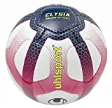 uhlsport Official Elysia Football - League 1 Design - Hand-Stitched - White/Navy/Fuchsia