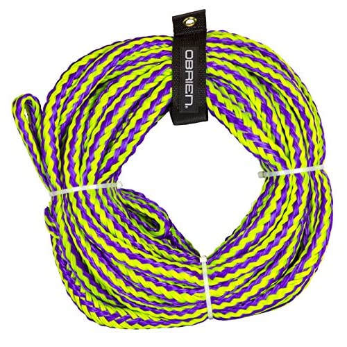 O'Brien 6 Person Floating Towable Tube Rope, Purple