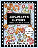 Exquisite Flowers Adult Coloring Book