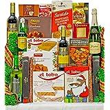 Lote Cesta Gourmet de Navidad Con 2 BONOS DE HOTEL. 1 Bot. Cava FREIXENET Excellencia BRUT NATURE 75cl 2 Bot. Vino tinto BERBERANA SELECCIÓN ORO CRIANZA 12 meses Tierra de Castilla 75cl 1 Bot. Vino blanco Virtuoso SUAVIGNON 75cl 1 Bot. Whisky Escocés CUTTY SARK 50cl Turrones y Dulces 1 Torta Turrón Alicante Suprema EL LOBO 100g 1 Pastilla Turrón Jijona Suprema EL LOBO 150g 1 Estuche Mantecados y Polvorones ESTEPA GAMITO 200g 1 Estuche Turrón Chocolate Crujiente Lobito EL LOBO 200g