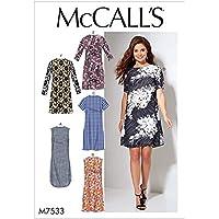"""McCall's Patterns """"7533 B5 Patrons/de Robes pour Femme, Multicolore, Taille 8–16"""