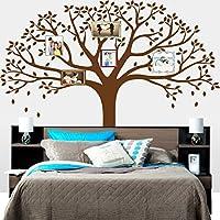 MAFENT grande albero foto di famiglia decorazione da parete adesivo da parete ramo di un albero famiglia come rami su un albero decorazioni a parete per soggiorno marrone
