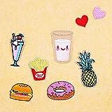 Lugii Cube Vêtements Accessoires 8pièces exquis frites Ananas Burger Chiffon Ensemble de Correctifs de vêtements capuchon Sac