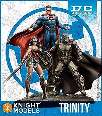 Knight Models DC Universe Batman Jeu Miniature : Batman v Superman Trinity Batman, Superman & ?Wonder Woman par 35 mm
