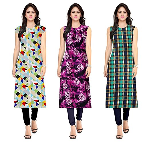 Pramukh Fashion Women\'s crape kurtis (1051.1055.1024)_Free Size Kurti Material)