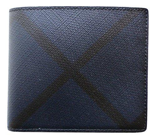 855fc948fb Burberry portafoglio uomo pelle bifold originale blu