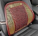 VIGKO Sitzauflagen Holzkugel Sitzauflage Stuhl Massage Rückenstütze Lordosenstütze Mesh lüften Kissen Pad Für Haus und Auto