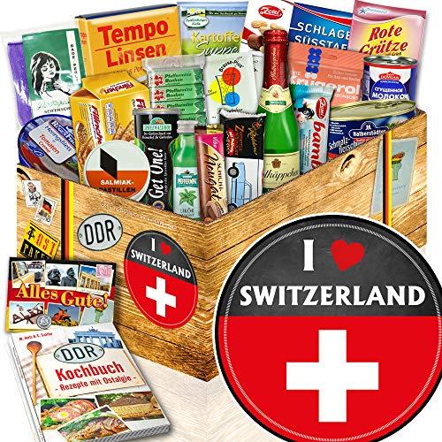 I love Switzerland / Geschenk Schweiz / Präsentkorb Spezialitäten DDR