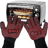Pupow Guantes del horno Resistente al calor guantes de cocina para barbacoa mitones caliente Horno mejores aislantes Hot Pot mitones del sostenedor para la barbacoa, el cocinar y manipulación de alimentos (de tamaño medio)