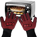 Oven Gloves, Pupow Heat Resistant BBQ...
