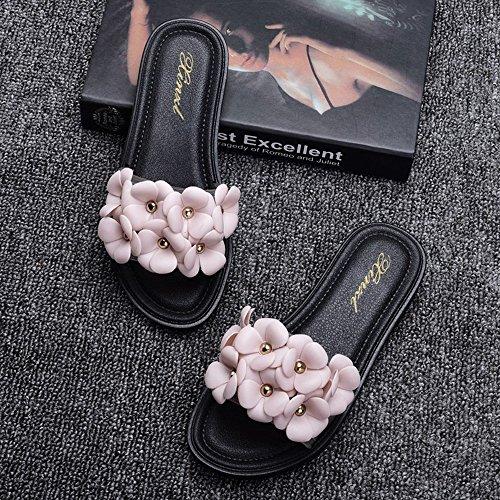 Estate Sandali Pantofole per signora di modo Pantofole da spiaggia Pantofole piatte antiscivolo Sandali da interno e da esterno (18-40 anni) Colore / formato facoltativo 1003