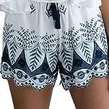 Strandshorts Ularmo Damen Mädchen Böhmische Spitze Stickerei 2017 Mode Shorts Hosen (S, Weiß)