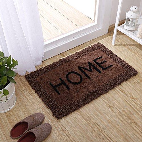 pllp Moderne minimalistische Wohnzimmer Couchtisch Teppich, Sofamatte, Tür Schlafzimmer Nacht Teppich,Dunkler Kaffee,50 * 80 cm