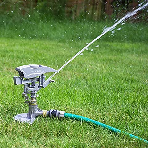 Professional Impulse Metal 3x Spike Garden Sprinkler Hozelock Compatible Sprayer Heavy Duty