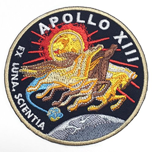 Apollo Kostüm Raumanzug - Karma Patch NASA Apollo 13Patch (90mm) Bestickt Eisen Nähen auf Badge Aufnäher Astronaut Raumanzug Programm Souvenir DIY Kostüm