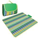 Allight Picknickdecke 145×180cm Ultraleichte tragbar Stranddecke wasserdicht Oxford Tuch Campingdecke zusammenfaltbar haltbare fur Outdoor Camping(Grün)
