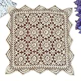 yizun hecho a mano Crochet encaje de algodón mantel manteles individuales blondas), diseño de...