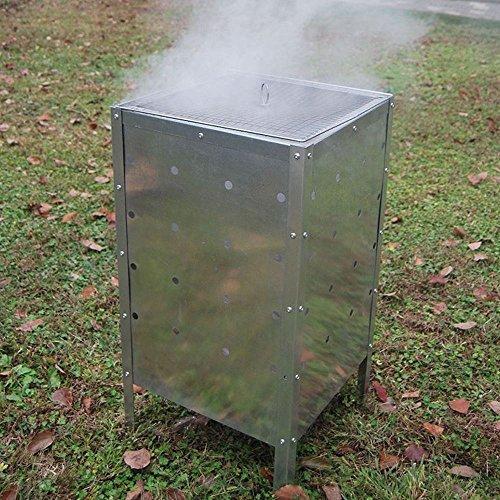 GR8 Garden groß 90 Liter eckig Müllverbrennungsanlage Feuer Mülleimer galvanisiert Brenn Müll Abfall Holz Blätter Trash Dose Grube Verbrenner Ofen Kamin
