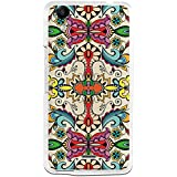 BeCool - Funda Gel Flexible Wiko Rainbow Up 4G Colorful Abstract Flowers Carcasa Case Silicona TPU Suave