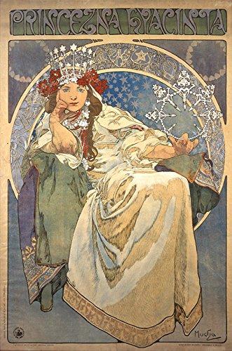 Prinzessin Jacinto von Alphonse Mucha, A3Für 16,5x 11Poster Drucken, Reproduktion Jugendstil Bild fertig zum Rahmen