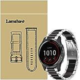 LvBu Armband kompatibelt med Garmin vivoactive 4, klassiskt rostfritt stål klockarmband för Garmin vivoactive 4 (45 mm) Smart