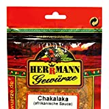 Chakalaka (Südafrika) Gewürzzubereitung Spar-Set 3x100 g Zutaten: Zwiebel, Paprika, Cumin, Karotten, Curcuma, Bockshornkleesaat, Koriander, Senfmehl, Knoblauch, Meersalz, Rohrzucker, Jalapeno-Chillies, Tomaten, Fenchel, Kohlflocken.Ohne Zusatzstoffe, ohne Glutamat