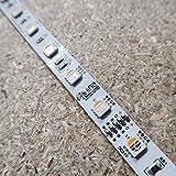 RGBW LED-Streifen (RGB+WW) 24V-14.4W/m- IP00-CRI80-SMD5050