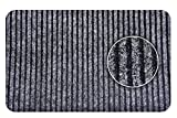#6: Non Woven Door Mat with Rubber Backing Shoe Cleaning & Dirt Removal - Indoor Outdoor - For Home, Shop, Office - Grey 16X24 Inches