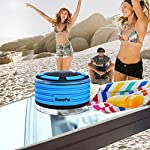 BassPal Shower Speaker, IPX7 Waterproof Portable Wireless Bluetooth 4.0 Speakers with Super Bass and HD Sound, Perfect Speaker for Beach, Pool, Kitchen & Home 12