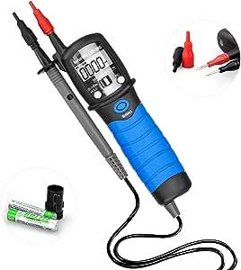 Nfurider Digital Stift Handmultimeter Yf 38c 6000 Zählt Auto Ranging Spannungsprüfer Voltage Meter Voltmeter Zum Ac Dc Spannung Tester Mit Durchgangsprüfer Widerstand Diode Kapazitäts Tester Baumarkt