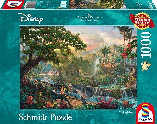 Schmidt Spiele 59473-Thomas Kinkade, DISNEY libro de la selva, rompecabezas, 1000Piezas