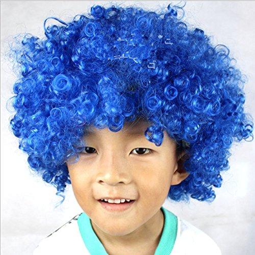 Dosige Explosive Kopf Perücke Clown Kostüm für Halloween Hochzeiten Festivals Karneval Parteien Prop One Size Blau