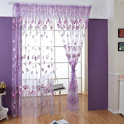 Wingogo Fenster Vorhang Roman Print Tulle Voile Vorhang Bestickt Sheer Für  Küche Wohnzimmer Das Schl