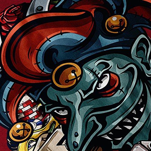 Clown Würfel Poker Horror Damen S-2XL Muskelshirt | Wellcoda Red