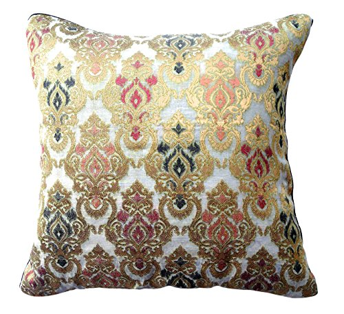 the-indian-promenade-16-x-16-inch-chanderi-pure-raw-silk-cushion-cover-magenta-beige