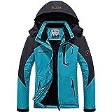 Panegy - Chaqueta para Mujeres para Deportes Esquí Invierno Abrigo impermeable Chaqueta de Nieve a prueba Viento - Azul Verde