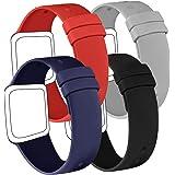AK Confezione 4 Cinturino Compatibile per Apple Watch Cinturino 44 mm 38 mm 42 mm 40 mm, Cinturino in Silicone Morbido per Ap
