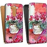 LG G3 S Tasche Hülle Flip Case Gemälde Rosen Blumen