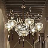 MIA Light Orientalische Kronleuchter Ø750mm/ Orient/Golden/ Messing/Amber/ Lampe Leuchte Lüster Arabische Marokkanische Lüsterlampe Lüsterleuchte