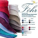 aqua-textil Bademantel Baumwolle für Damen Herren mit Kapuze