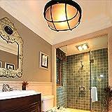 Landhaus/Vintage/Rustikal/Retro/Bad/Badezimmer Außen Wand- und Bad/Badezimmer Außen Deckenleuchte/Deckenlampe/Lampe/Leuchte 3 Runden/Küche Metall Glas LED E27 Max. 3 x 60 W Ø24cm